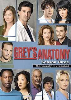 Greys Anatomy The Complete Third Season DVD 2007 7 Disc Set Seriously