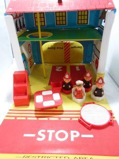 Fire Department No. 4 Vinyl Playset 12 Accessories + Working Bell