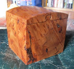 Puzzle Box Redwood Burl Signed Gordon OBleven Wood Jewelry Box