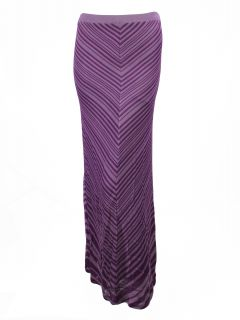 Haute Hippie Womens Quince Iris Chevron Stripe Maxi Skirt XS $345 New
