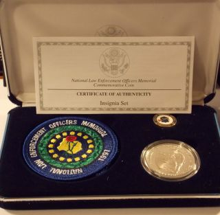 1997 National Law Enforcement Officers Memorial Coin Insignia Set