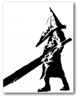 SILENT HILL PYRAMID HEAD   Hand Painted Canvas