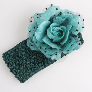 Baby Girl Crochet Headband with Flower Hair Accessory