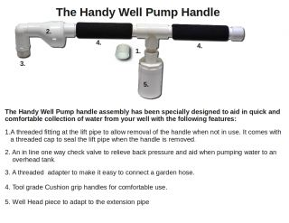 Handy Well Pump Kit, Hand Water Well Pump Well Pressure Pump