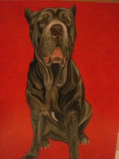 Hayes Trotter Original Signed Oil Painting Of Dog