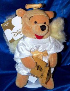 Winnie The Pooh Choir Angel 8 Stuffed Plush Beanie Disney Xmas Doll
