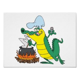 Silly and funny alligator and/or crocodile animal cartoon graphic