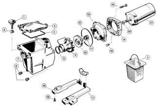 Hayward Super Pump Diffuser 1 2 thru 2 HP Pump SPX2600B