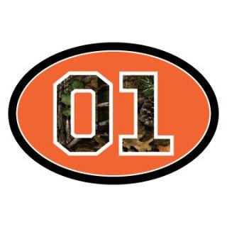 Dukes of Hazzard Orange Oval w Camo 01 Decal Bumper Sticker General