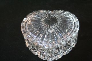Clear Glass Heart Shaped Trinket Box