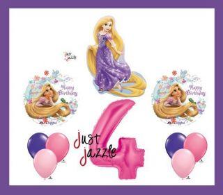 Rapunzel Tangled 4 4th Fourth Happy Birthday Balloon Party Set Disney