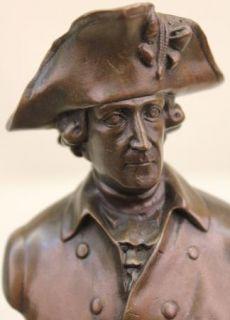 Vintage Milo King Fredrick II of Prussia Bronze Statue Sculpture