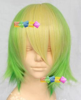 Happy Tree Friends Nutty Cosplay Wig Yellow and Green Short