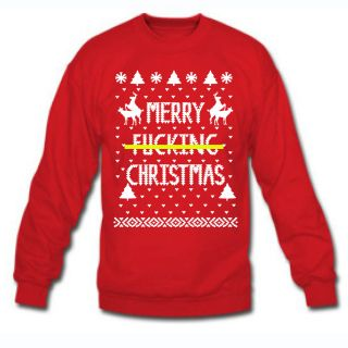 Merry FN Christmas Rude Ugly Xmas Sweater South Park Winner Crewneck