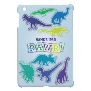 Dinosaur Mini iPad Case   Blue, Green & Purple iPad Mini Case