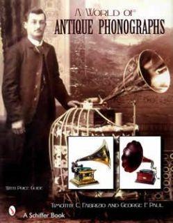 World Antique Phonographs Book Music Machine Gramophone