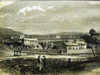HEBER C KIMBALL HOUSE SALT LAKE CITY 1858 Antique Engraving Print