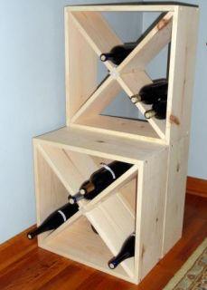 15 Wine Rack Cube Countertop Model Liquor Storage Solid Wood Modular