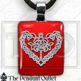 Celtic Heart Love Irish Wedding Knot Romance Wicca Pagan Charm Pendant