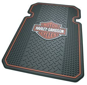 Harley Davidson Orange Bar Shield Auto Rubber Utility Floor Mat Set