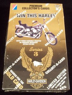 1993 Collect A Card Harley Davidson Series 3 Trading Card Box 36 Packs