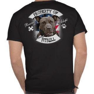 Property of da Nanny Pitbull Dog, Outlaw Biker Tee Shirt
