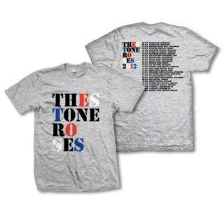 The Stone Roses Heaton Park 2012 Grey T Shirt Official Tour
