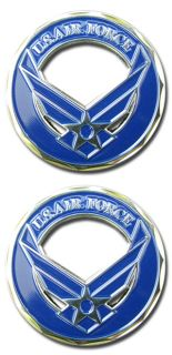 Air Force Logo Hap Arnold Wings Blue Challenge Coin