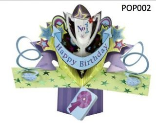 Greeting Card Happy Birthday Pop Up 3D Gift Card New