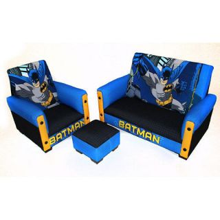 Harmony Kids Disney Batman 3 Piece Toddler Sofa Set