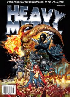 Heavy Metal Magazine March 2012 MINT illustrated