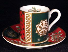 China CHRISTMAS Demitasse Cup & Saucer Angel Wings Star