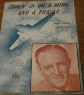 Vintage Comin in on A Wing and A Prayer Sheet Music G2