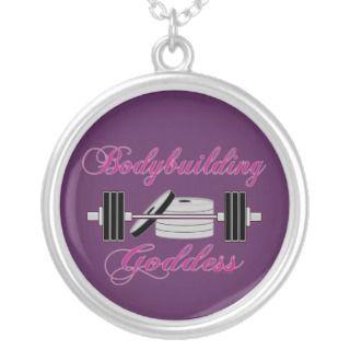 Bodybuilder Ladies Bodybuilding Goddess Necklace