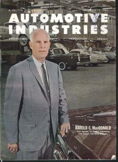Automotive Industries Harold MacDonald Ford Fairlane Falcon Studebaker