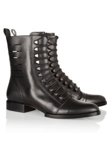 Alexander Wang Andrea cutout leather boots   55% Off
