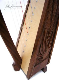 NEW 22 STRINGS IRISH CELTIC BALLADEER HARP ENGRAVED by TAYLOR w/ FREE