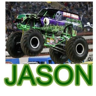 Grave Digger Personalized Shirt Monster Truck Custom Name Kids T Shirt