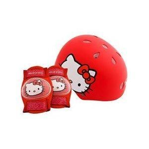 Hello Kitty Kids Childs Bike Helmet Youth Safety Red 5