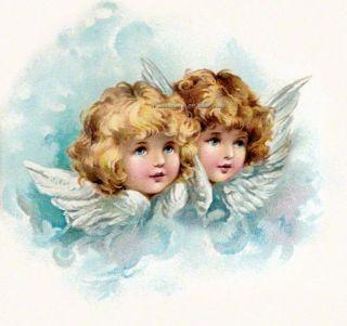 Harriet Bennett Angels Cherubs No 2 Fabric Block Multi Sz