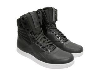 Reebok Mens SLX Legacy Court Hi J85421 Gray Lace Up Fashion Sneakers