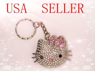 4GB Hello Kitty Crystal Flash Drive USB Keychain Silver