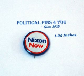 Campaign Pin Pinback Button Political Richard Nixon 68