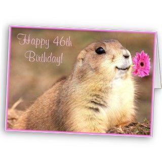Happy 46th Birthday Prairie dog greeting card