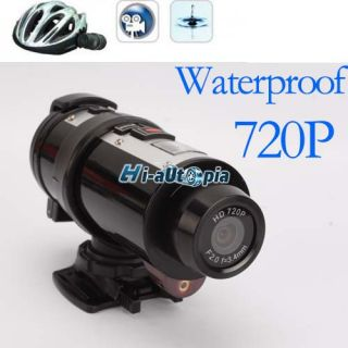 Bicycle Bike Cycling HD DVR Helmet Camera Sport Waterproof HDMI 720P