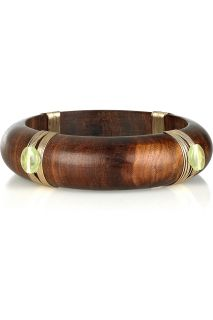 Lee Angel Embellished wooden bangle   50% Off