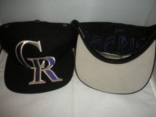 Rockies Snapback hat cap Rare DS Todd Helton BIG LOGO blockhead MLB