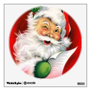 Winking Santa Wall Graphics