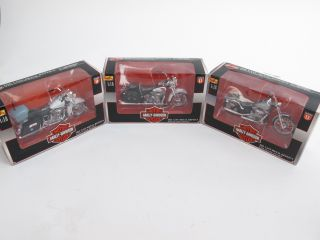 Maisto Harley Davidson 1 18 Scale Motorcycles Metal w Plastic Parts