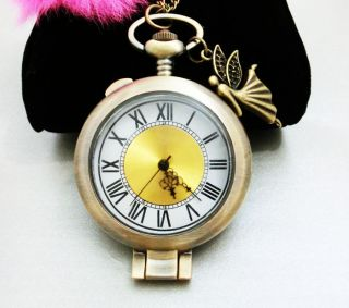angel harry potter steampunk silver pocket watch necklace jewelry